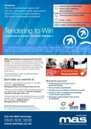 Tendering to Win - SWMAS
