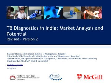 TB Diagnostics in India: Market Analysis and Potential - Evidence ...