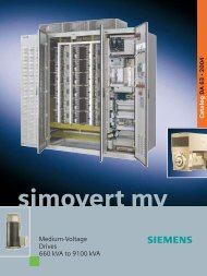SIMOVERT MV Medium-Voltage Drives 660 kVA to 9100 ... - Industry