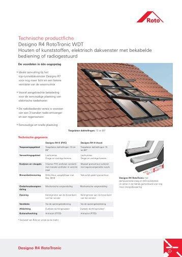 Technische productfiche Designo R4 RotoTronic WDT