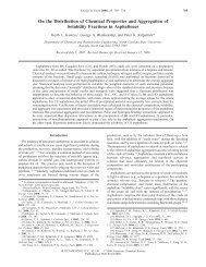 On the Distribution of Chemical Properties and Aggregation of ...