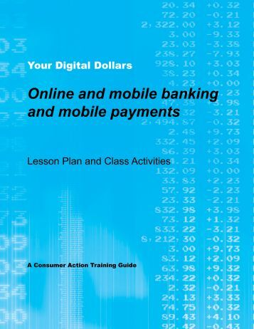 Online and mobile banking and mobile payments - Practical Money ...