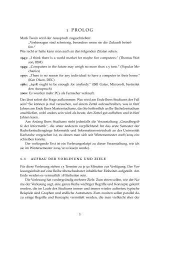 Skript - Grundbegriffe der Informatik (Wintersemester 2009/2010)