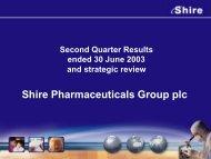 Q2 2003 - Shire