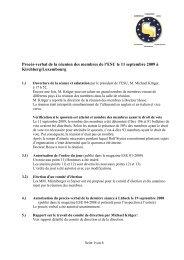 Procès-verbal de la réunion des membres de l'ESU le 11 septembre ...
