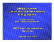 CERES Overview: Clouds and the Earth's Radiant Energy ... - NASA