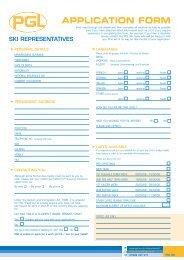 347 Ski Application form 2004 - PGL