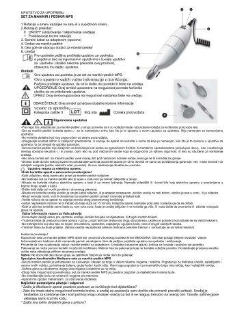 Ovo uputstvo sadrži važne informacije o korišćenju. vezane za ...