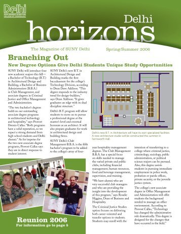 Branching Out - SUNY Delhi