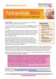 Partnership Bulletin September 2011 - West Cheshire Together