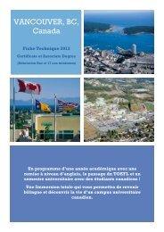 Certificate à Vancouver - ISPA