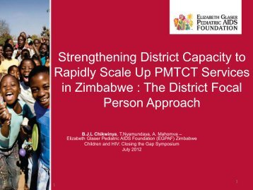 Strengthening District Capacity to Rapidly Scale Up PMTCT ...