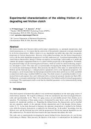 Experimental characterization of the sliding friction of a degrading ...