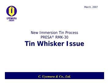 New Immersion Tin Process PRESA RMK-30: Tin Whisker Issue