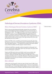 Pathological Demand Avoidance Syndrome (PDA) - Cerebra
