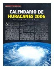 calendario de huracanes 2006 - UPNFM