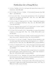 Publication List of Sung-Sik Lee