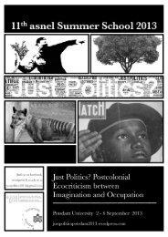 Just Politics? - areas