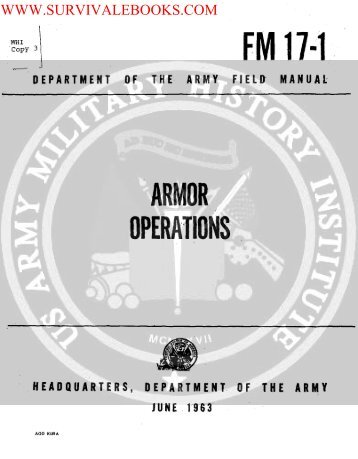 1963 US Army Vietnam War Armor Operations ... - Survival Books