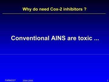 Cox-2 inhibitors - Cellular and Molecular Pharmacology