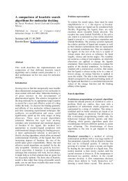A comparison of heuristic search algorithms for molecular docking