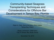Community-based Seagrass Transplanting Techniques and ...