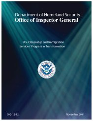 U.S. Citizenship and Immigration Services' Progress in Transformation