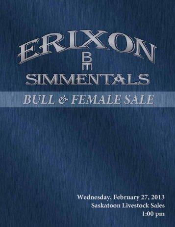 Erixon Simmentals Bull & Female Sale - Transcon Livestock