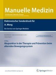Manuelle Medizin - dr. alexander meng