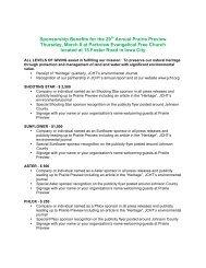 2012 Prairie Preview sponsor info - Johnson County Heritage Trust