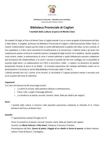 Logo Provincia di Cagliari - Biblioteca Provinciale di Cagliari