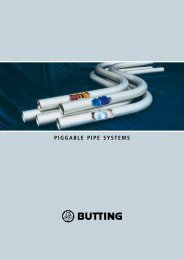 PIGGABLE PIPE SYSTEMS - Butting GmbH & Co. KG