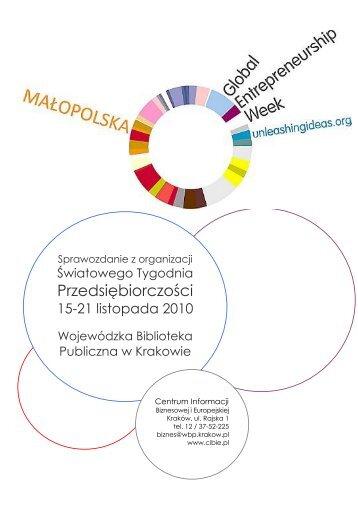 Światowego Tygodnia Przedsiębiorczości w Małopolsce - Centrum ...