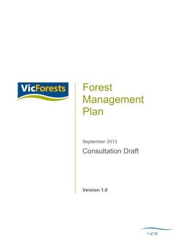 Download VicForests' draft Forest Management Plan