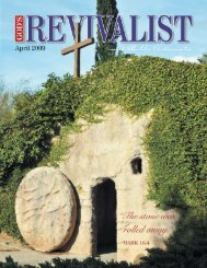Read the April issue online - God's Bible School & College