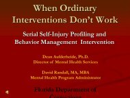 When Ordinary Interventions Don't Work - Florida Department of ...