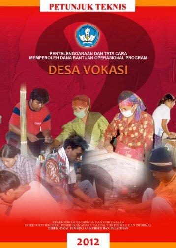 Petunjuk Teknis Desa Vokasi Tahun 2012