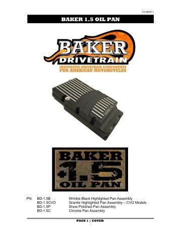 baker cruise drive top cover baker 1.5 oil pan - Baker Drivetrain