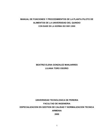 manual de funciones y procedimientos de la planta piloto