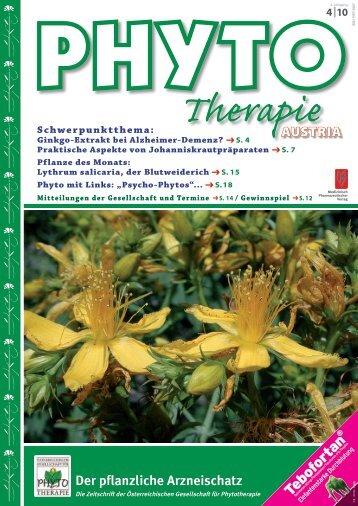 Der pflanzliche Arzneischatz - Phytotherapie Österreich