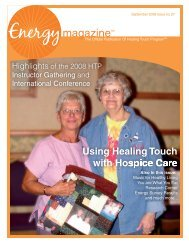 September 2008: Using Healing Touch with ... - Energy Magazine