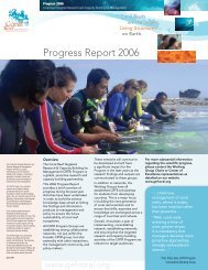 Progress Report 2006 - Coral Reef Targeted Research