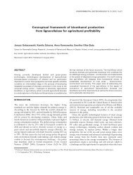 Conceptual framework of bioethanol production from lignocellulose ...