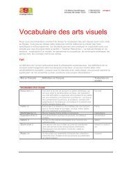 Vocabulaire des arts visuels - Art Gallery of Alberta