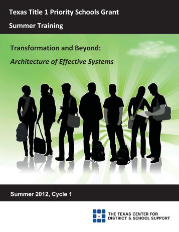 2012 TTIPS Cycle 1 Summer Training Manual - Texas Center for ...