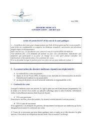 Dossiers médicaux : conservation et archivage - Conseil National de ...