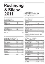 Rechnung & Bilanz 2011 - Contenti