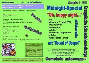 Gemeinde unterwegs 1-2013 - Evangelische Schaustellerseelsorge