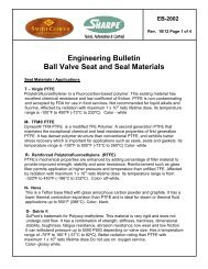 Engineering Bulletin Ball Valve Seat and Seal ... - Sharpe® Valves