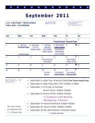 September 2011 - JCC East Bay